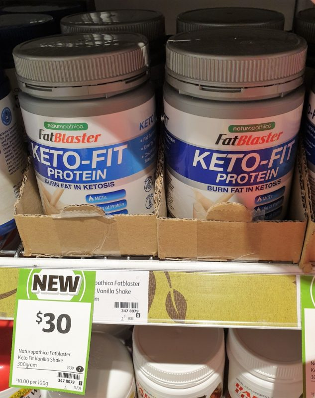 Naturopathica 300g Fat Blaster Protein Keto Fit Vanilla