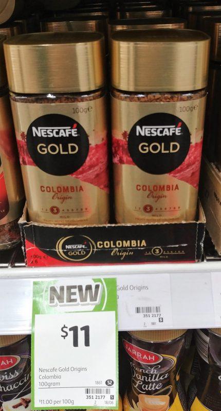 Nescafe 100g Gold Colombia Origin