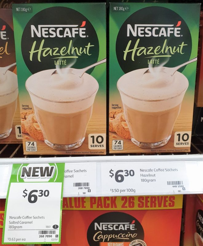 Nescafe 180g Latte Hazelnut