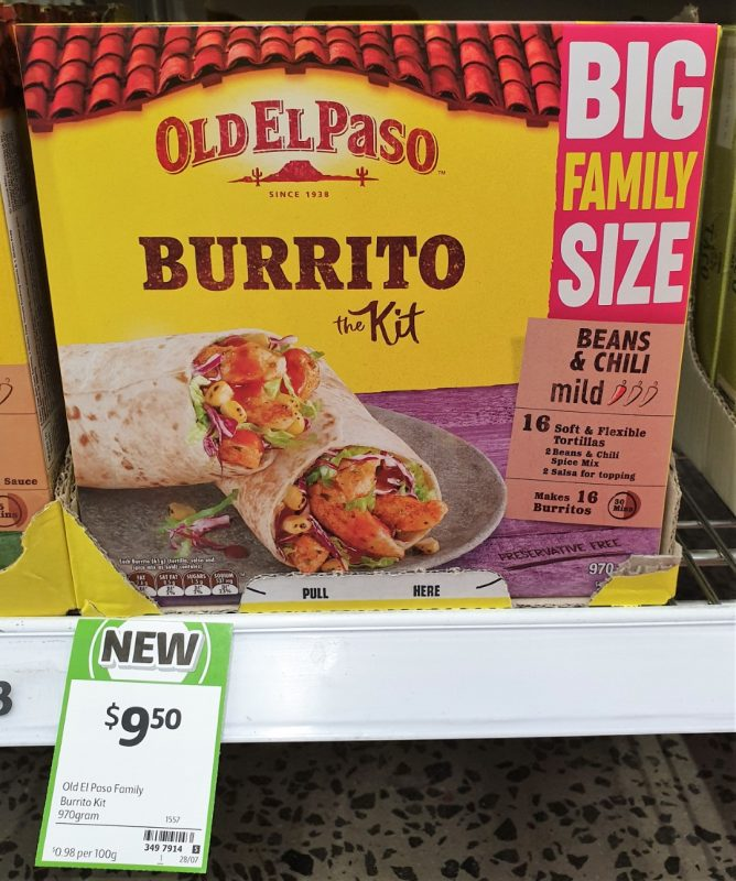 Old El Paso 970g The Kit Burrito