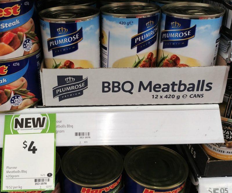 Plumrose 420g Meatballs BBQ