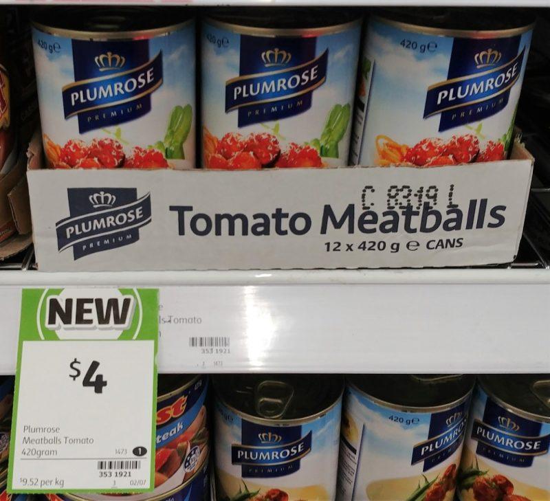 Plumrose 420g Meatballs Tomato