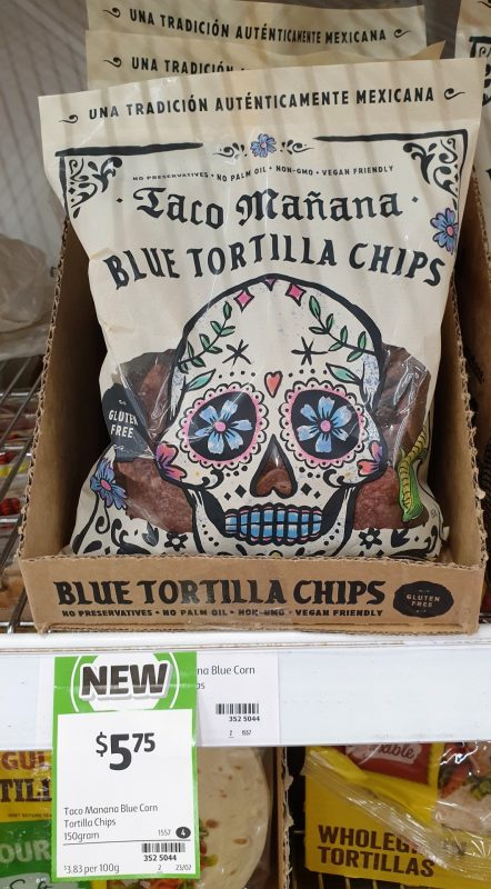 Taco Manana 150g Tortilla Chips Blue