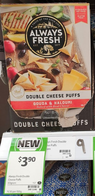 Always Fresh 60g Puffs Double Cheese Gouda & Haloumi