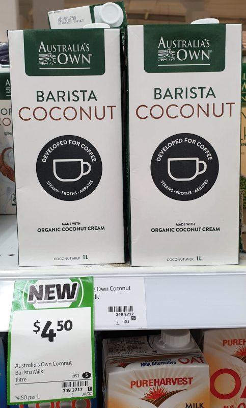 Australia's Own 1L Barista Coconut