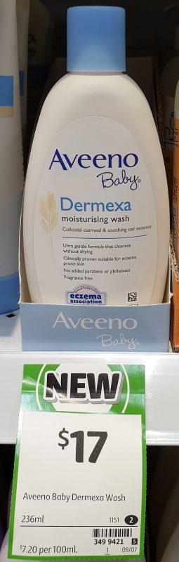Aveeno 236mL Baby Dermexa Moisturising Wash