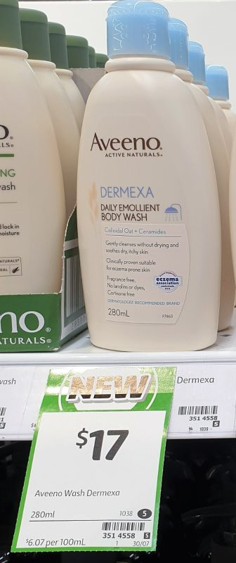 Aveeno 280mL Body Wash Dermexa