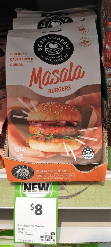 Bean Supreme 340g Burgers Masala