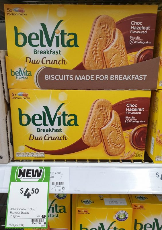 BelVita 253g Breakfast Biscuits Duo Crunch Choc Hazelnut
