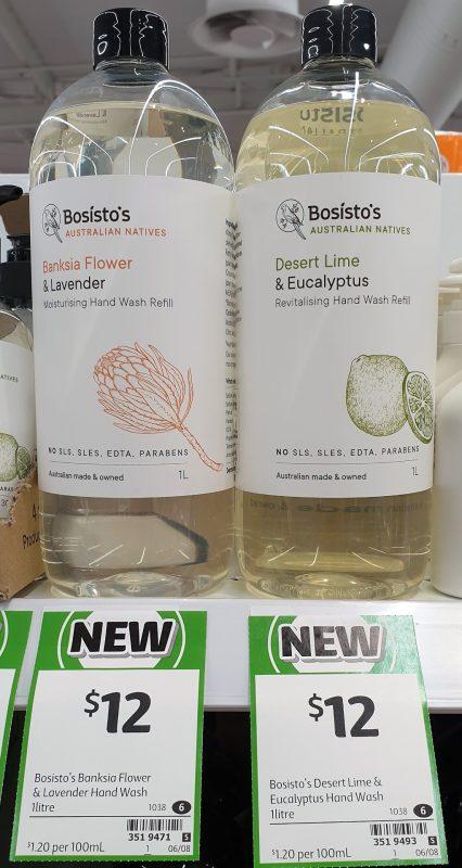 Bosisto's 1L Hand Wash Banksia Flower & Lavender, Desert Lime & Eucalyptus