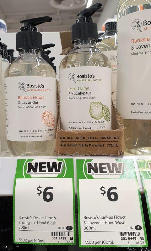 Bosisto's 300mL Hand Wash Banksia Flower & Lavender, Desert Lime & Eucaluptus