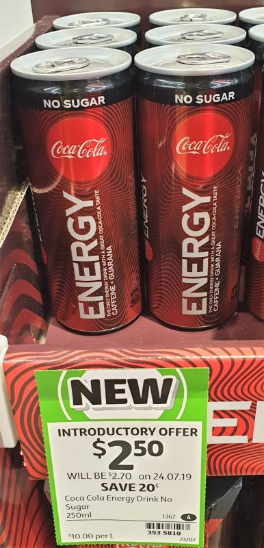 Coca Cola 250mL Energy Drink No Sugar