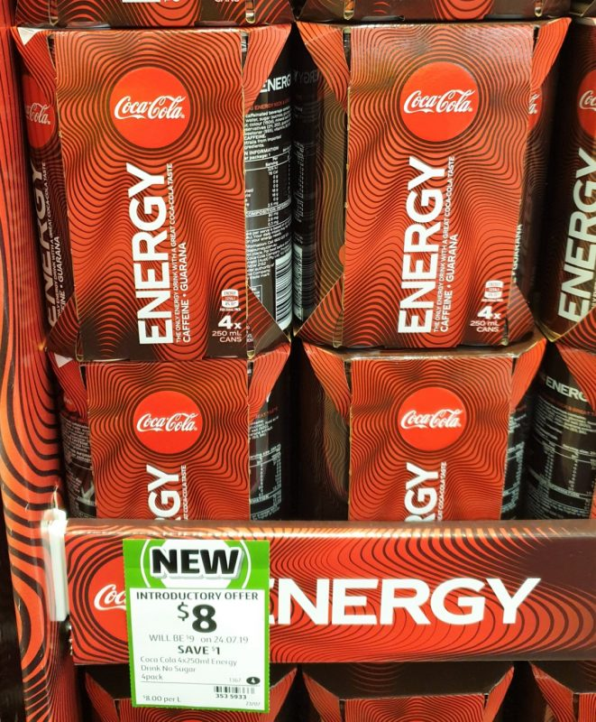 Coca Cola 4 X 250mL Energy Drink