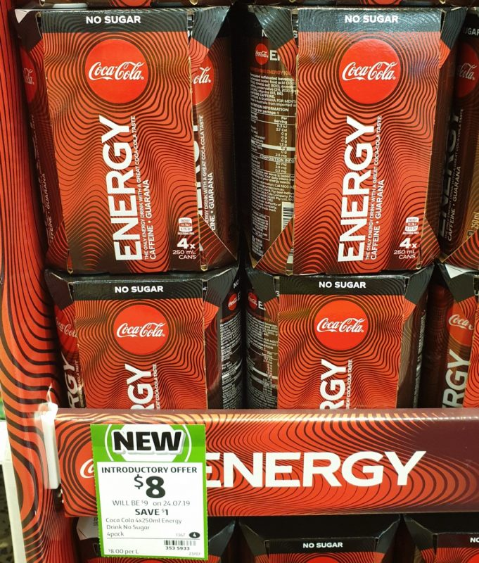 Coca Cola 4 X 250mL Energy Drink No Sugar
