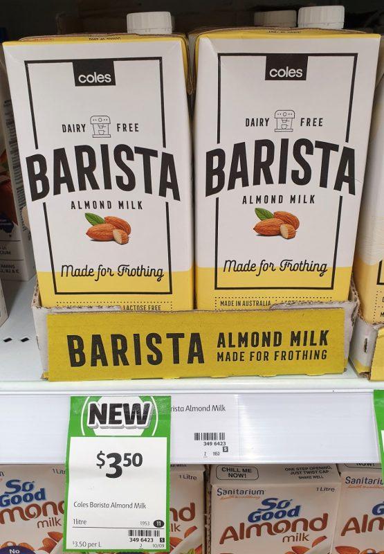 Coles 1L Barista Almond Milk