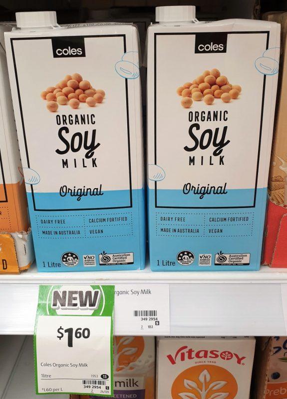 Coles 1L Soy Milk Organic Original