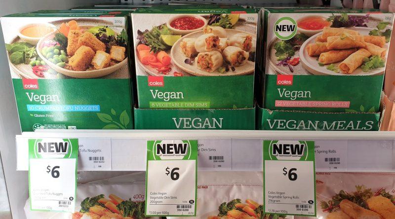 Coles 200g Vegan Nuggets Tofu, Dim Sims