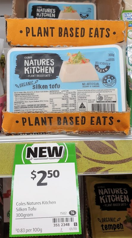 Coles 300g Nature's Kitchen Tofu Silken