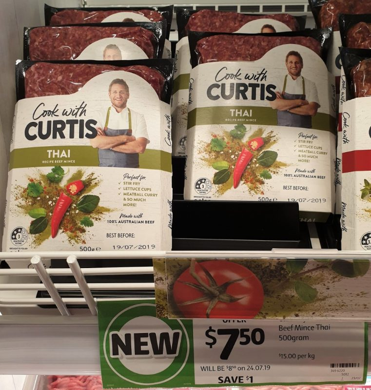 Coles 500g Cook With Curtis Beef Mince Thai