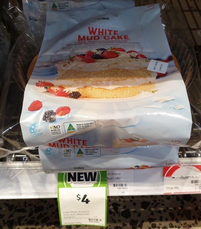 Coles 540g Cake Mud White