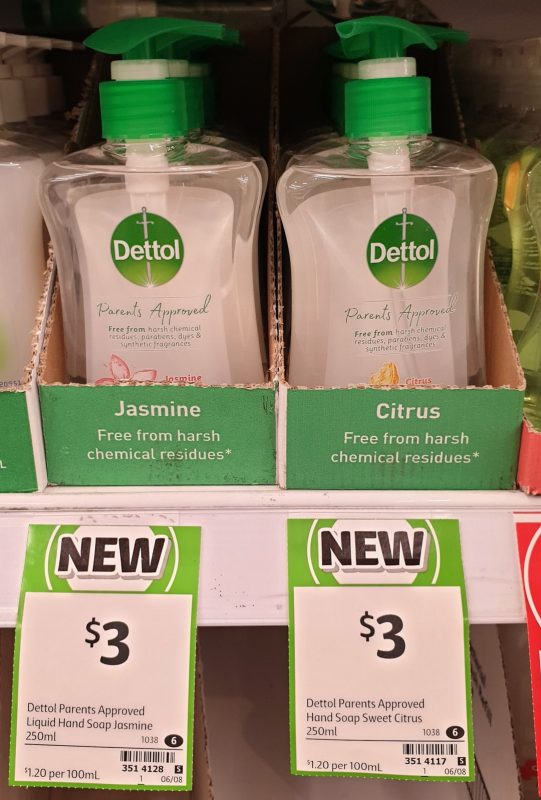 Dettol 250mL Hand Wash Jasmine, Citrus