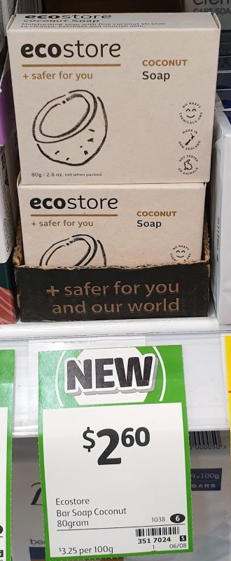 Ecostore 80g Soap Coconut