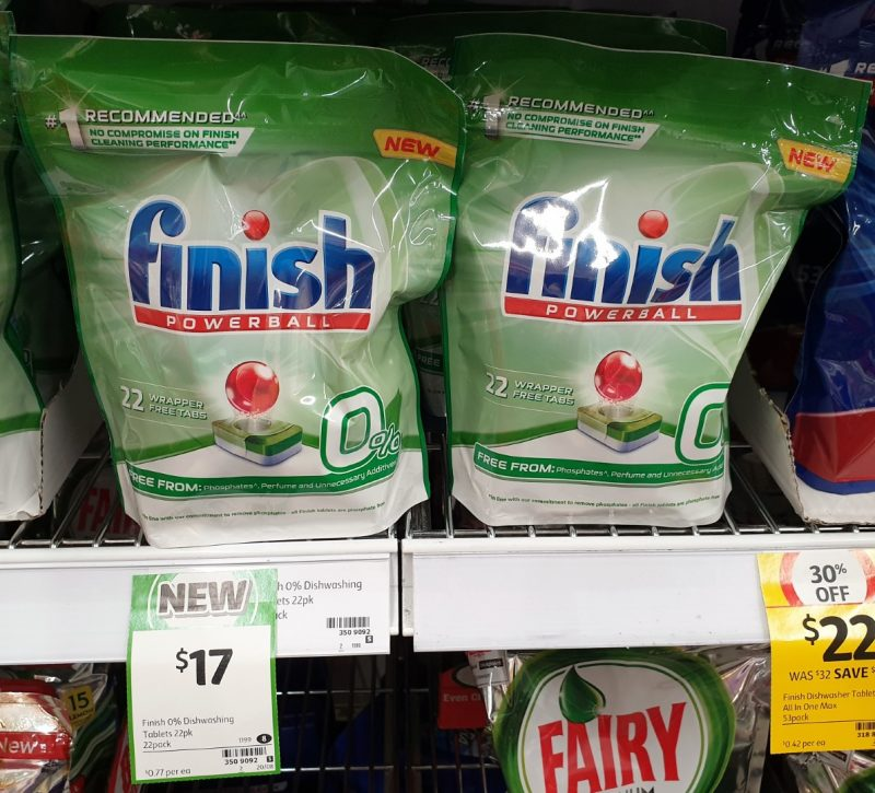 Finish 22 Pack Powerball Dishwashing Tablets