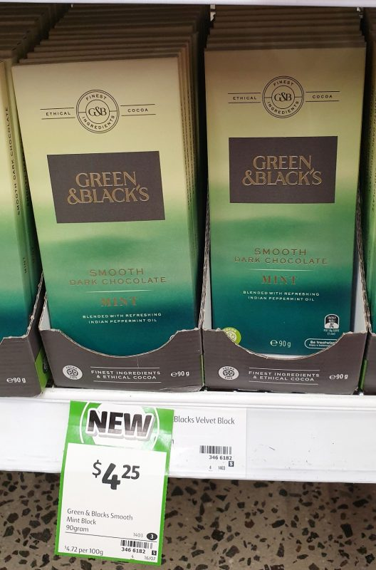 Green & Black's 90g Dark Chocolate Mint