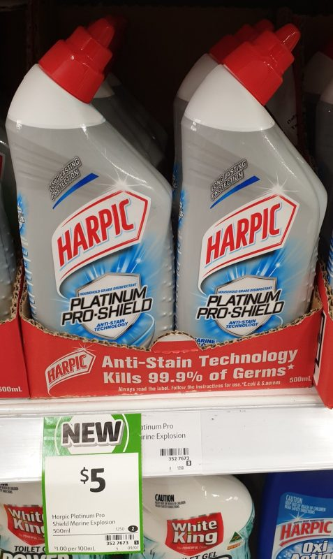 Harpic 500mL Platinum Pro Shield Disinfectant Marine Explosion