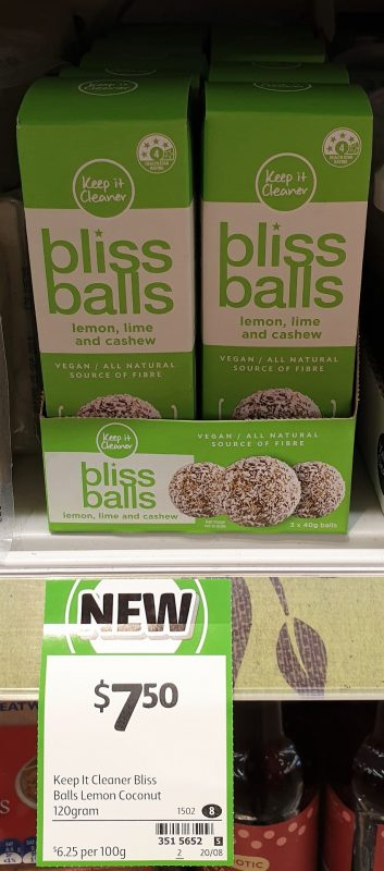 Keep It Cleaner 120g Bliss Balls Lemon, Lime And Cashew