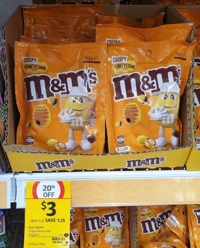 Mars 145g M&M's Crispy Honeycomb Flavour