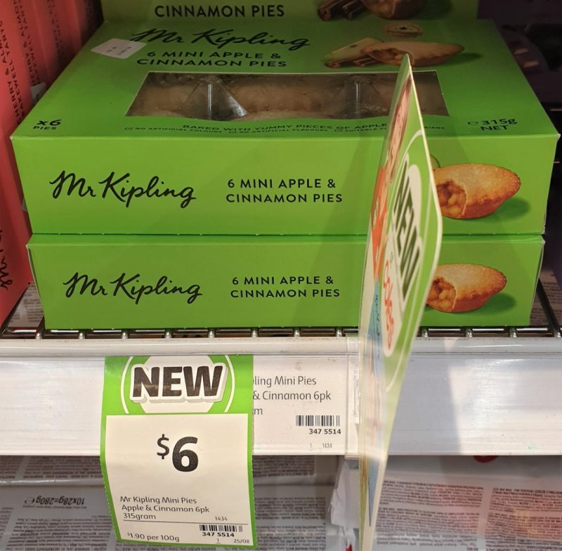Mr Kipling 315g Pies Mini Apple & Cinnamon