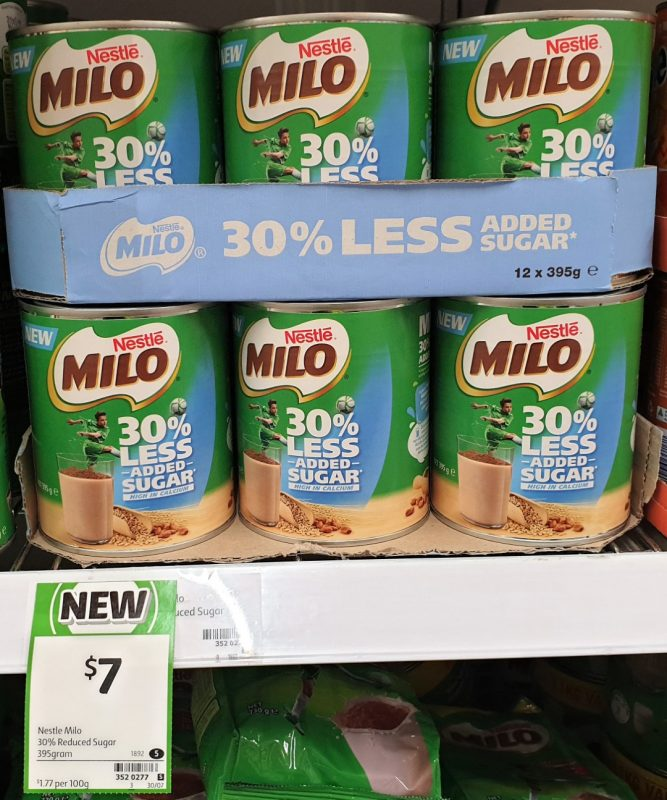 Nestle 395g Milo 30% Less Added Sugar