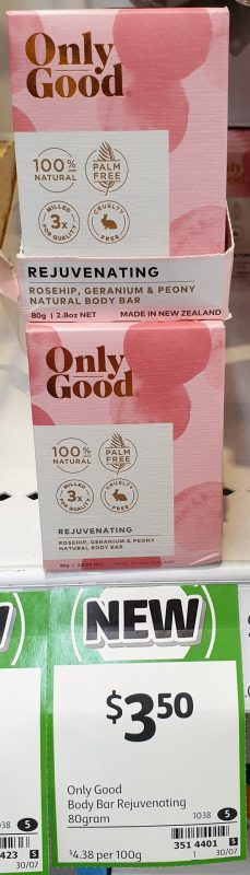 Only Good 80g Body Bar Rejuvenating