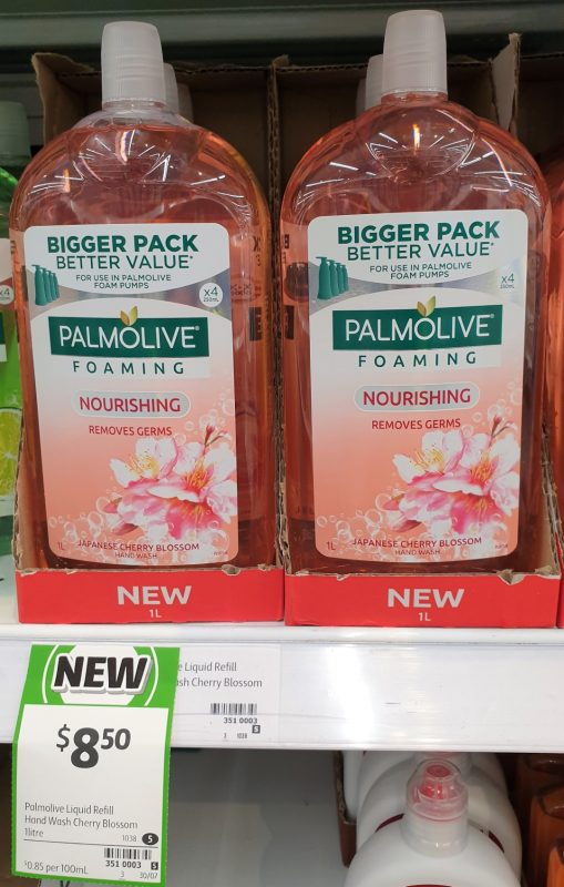 Palmolive 1L Foaming Hand Wash Nourishing Japanese Cherry Bossom
