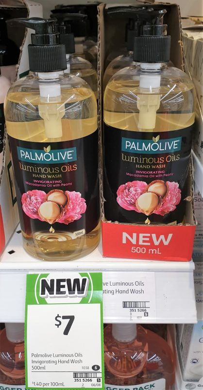 Palmolive 500mL Hand Wash Luminous Oils Invigorating Macadamia Oil With Peony