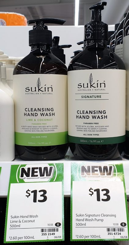 Sukin 500mL Hand Wash Cleansing Lime & Coconut, Signature