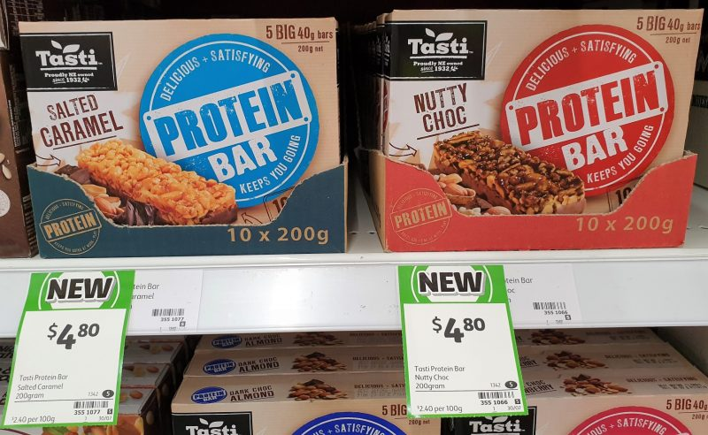 Tasti 200g Protein Bar Salted Caramel, Nutty Choc