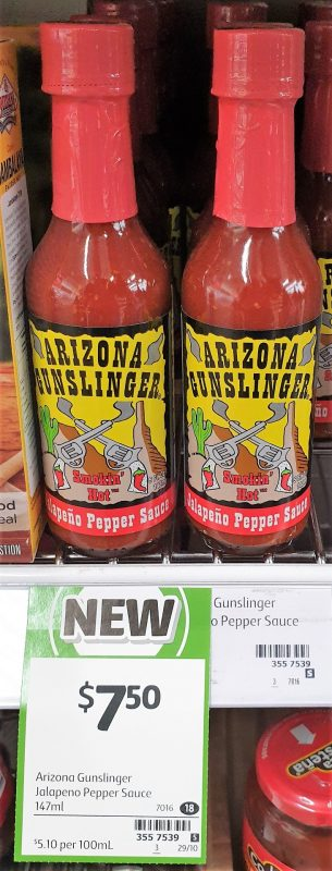 Arizona Gunslinger 147g Sauce Jalapeno Pepper