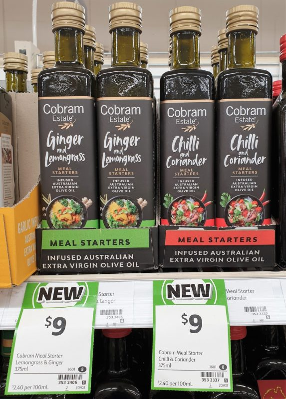 Cobram Estate 375mL Meal Starters Ginger And Lemongrass, Chilli And Coriander
