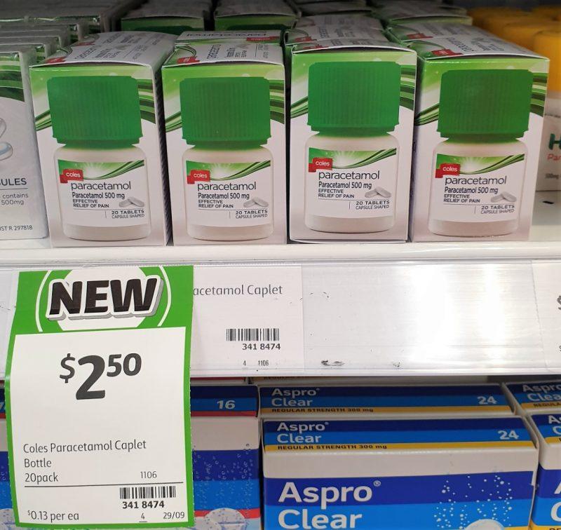 Coles 20 Pack Paracetamol