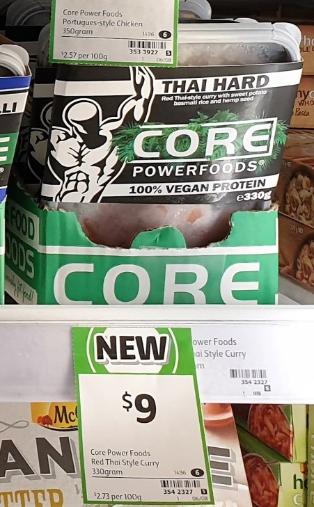 Core Powerfoods 330g Thai Hard Curry