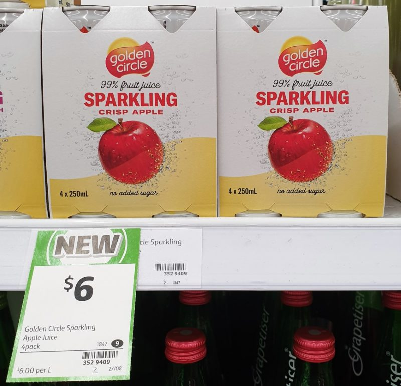 Golden Circle 4 X 250mL Juice Sparkling Apple Crisp
