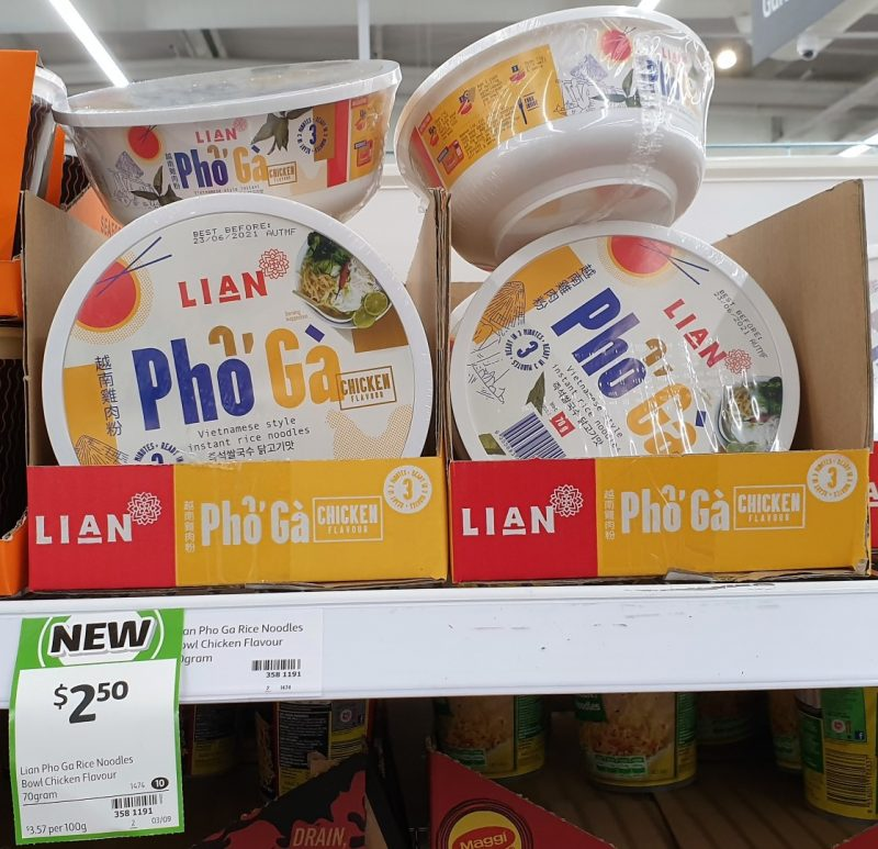 Lian 70g Pho Ga Vietnamese Style Instant Rice Noodles Chicken Flavour