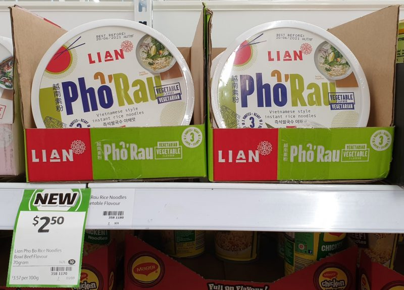Lian 70g Pho Ga Vietnamese Style Instant Rice Noodles Vegetable Flavour