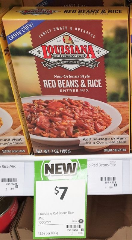 Louisiana 100g Entree Mix New Orleans Style Red Beans & Rice