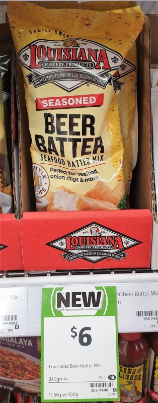 Louisiana 240g Seafood Batter Mix Beer Batter