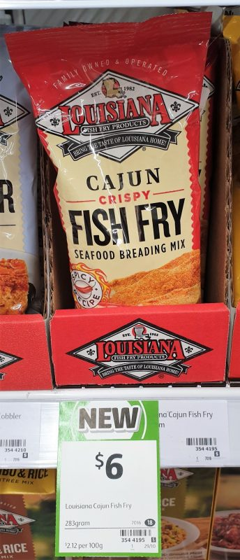 Louisiana 283g Seafood Breading Mix Fish Fry Cajun