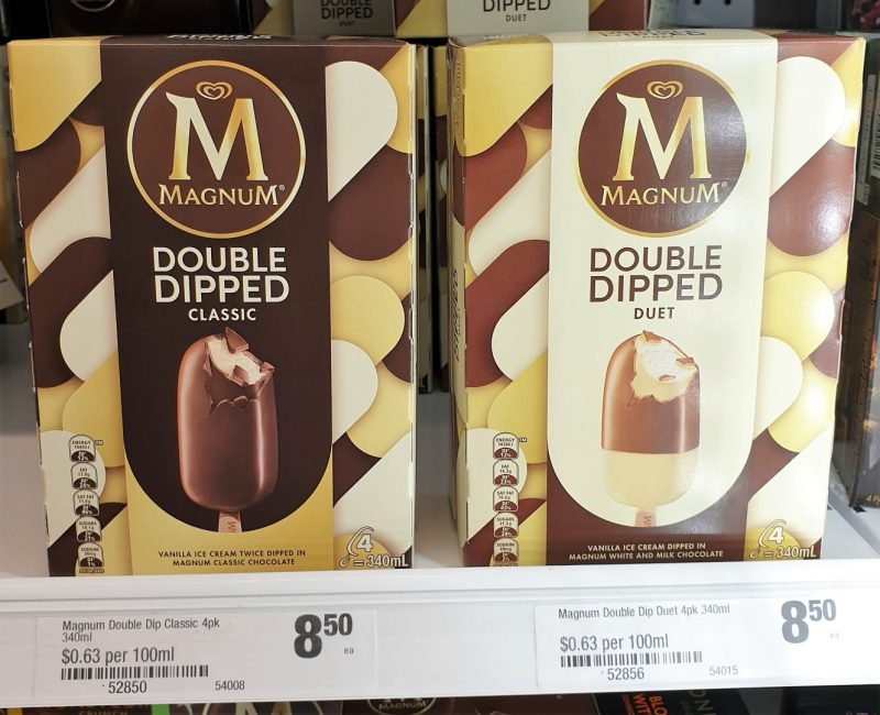 Magnum 340mL Double Dipped Ice Cream Classic, Duet