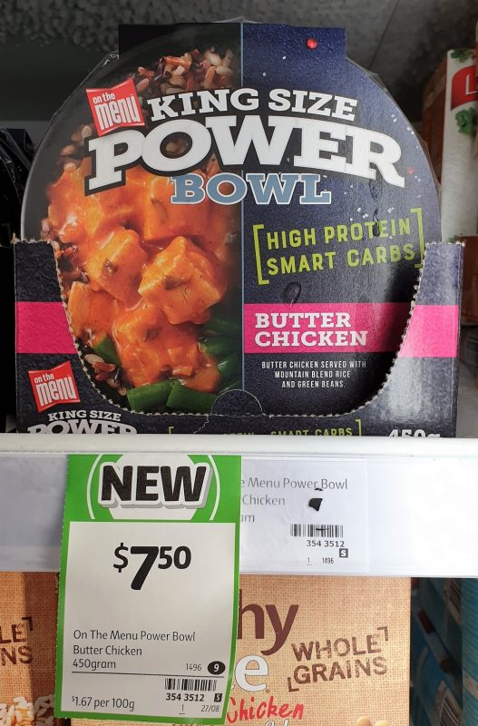 On The Menu 450g King Size Power Bowl Butter Chicken